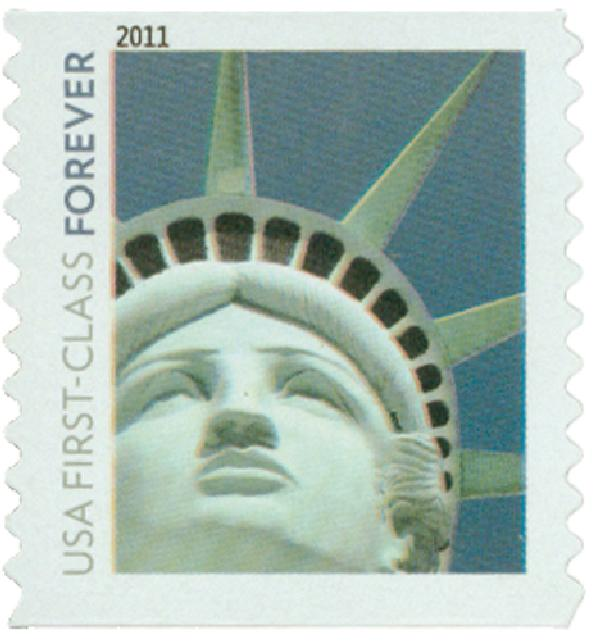 2010 First-Class Forever Stamp -  Lady Liberty (Avery Dennison)