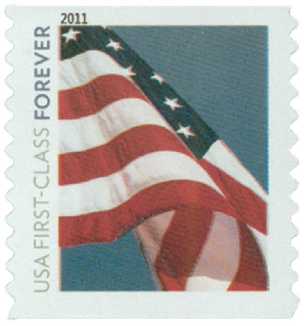 2010 First-Class Forever Stamp -  Flag Forever (Avery Dennison)