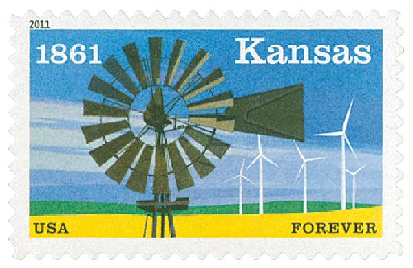 2011 First-Class Forever Stamp -  Kansas Statehood