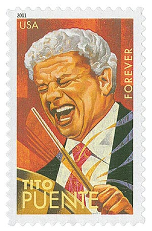 2011 First-Class Forever Stamp -  Latin Music Legends: Tito Puente