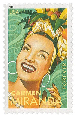 2011 First-Class Forever Stamp -  Latin Music Legends: Carmen Miranda