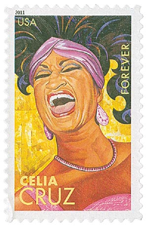 2011 First-Class Forever Stamp -  Latin Music Legends: Celia Cruz