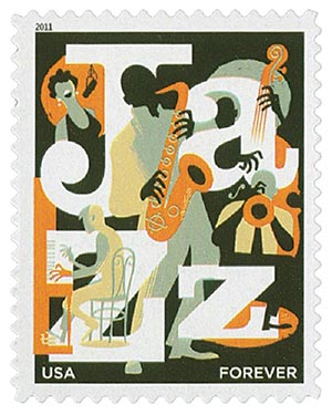 2011 First-Class Forever Stamp -  Jazz
