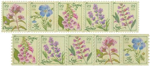 2011 29c Herbs, set of 10 stamps
