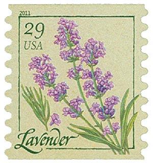 2011 29c Herbs: Lavender, coil