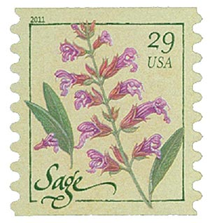 2011 29c Herbs: Sage, coil