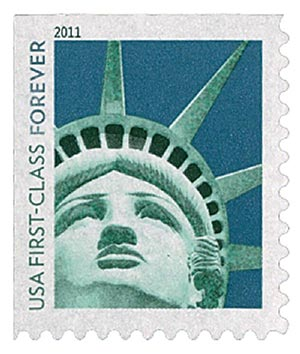 2011 First-Class Forever Stamp -  Lady Liberty, ATM bklt