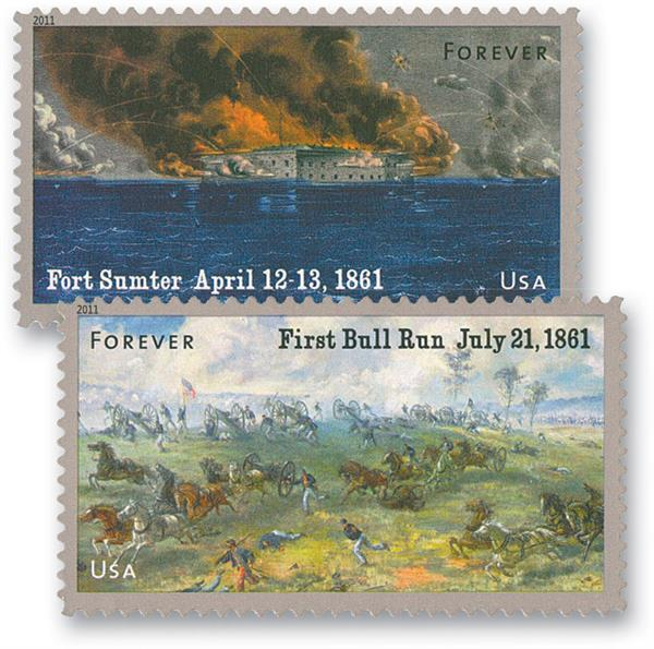2011 First-Class Forever Stamp - The Civil War Sesquicentennial, 1861