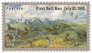2011 First-Class Forever Stamp -  Civil War Sesquicentennial: 1st Battle of Bull Run