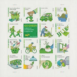 2011 First-Class Forever Stamp -  Go Green