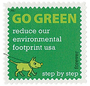 2011 First-Class Forever Stamp - Go Green: Reduce Our Environmental Footprint