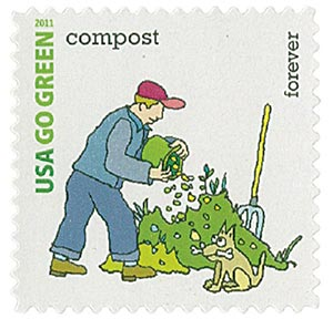 2011 First-Class Forever Stamp - Go Green: Compost