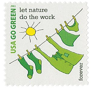 2011 First-Class Forever Stamp - Go Green: Let Nature Do the Work
