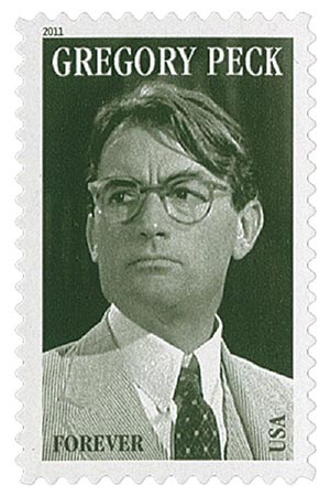 2011 First-Class Forever Stamp -  Legends of Hollywood: Gregory Peck