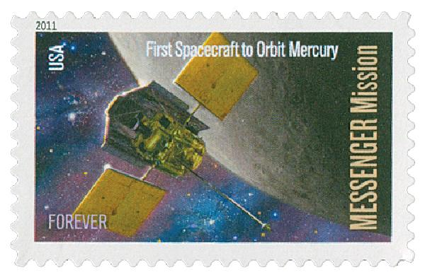 2011 First-Class Forever Stamp -  Space Firsts: Messenger