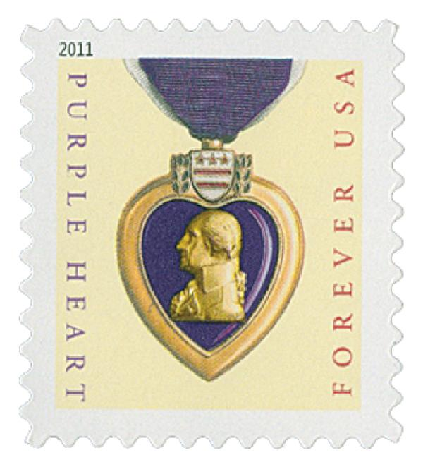 2011 First-Class Forever Stamp -  Purple Heart