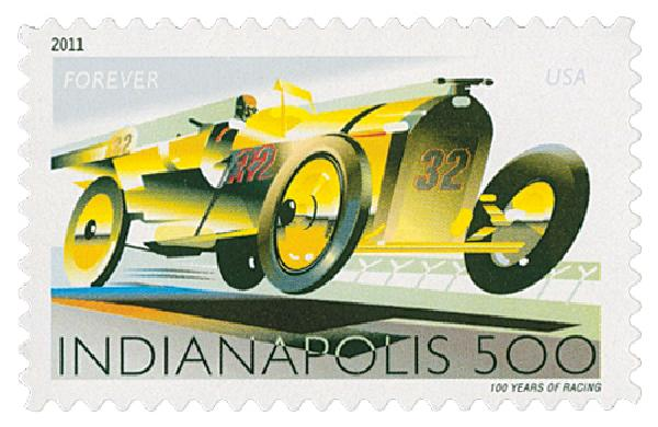 2011 First-Class Forever Stamp -  Indianapolis 500