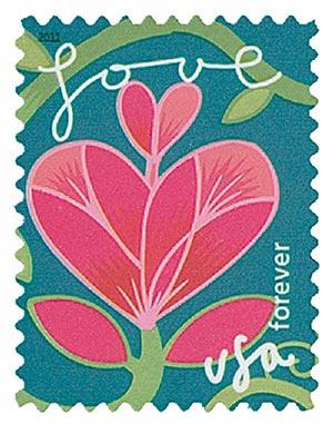 2011 First-Class Forever Stamp -  Garden of Love: Pink Flower