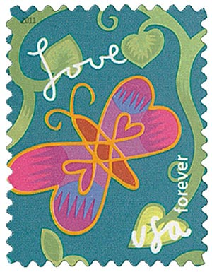 2011 First-Class Forever Stamp -  Garden of Love: Butterfly