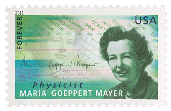 2011 First-Class Forever Stamp -  American Scientists: Maria G May