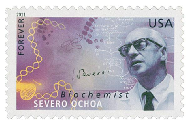 2011 First-Class Forever Stamp -  American Scientists: Severo Ocho