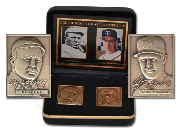 1996 Maddux/Young Mint Bronze Card Set