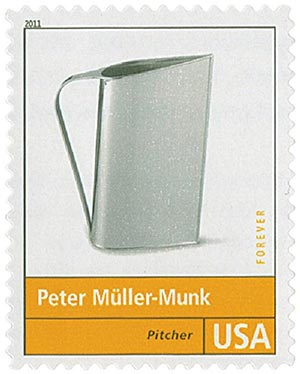 2011 First-Class Forever Stamp - Pioneers of American Design: Peter Muller-Munk - Pitcher