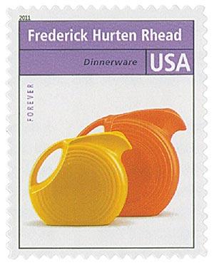 2011 First-Class Forever Stamp - Pioneers of American Design: Frederick Hurten Rhead - Dinnerware