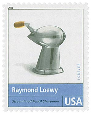 2011 First-Class Forever Stamp - Pioneers of American Design: Raymond Loewy - Streamlined Pencil Sharpener