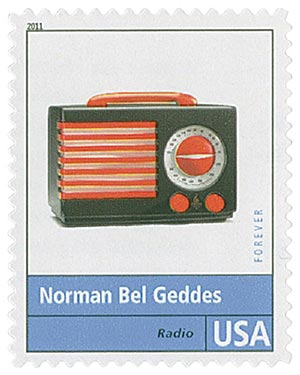 2011 First-Class Forever Stamp - Pioneers of American Design: Norman Bel Geddes - Radio