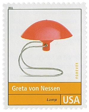 2011 First-Class Forever Stamp - Pioneers of American Design: Greta von Nessen - Lamp