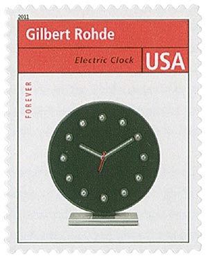2011 First-Class Forever Stamp - Pioneers of American Design: Gilbert Rohde - Electric Clock