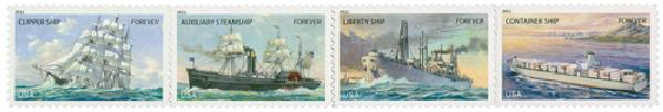 2011 First-Class Forever Stamp - U.S. Merchant Marine