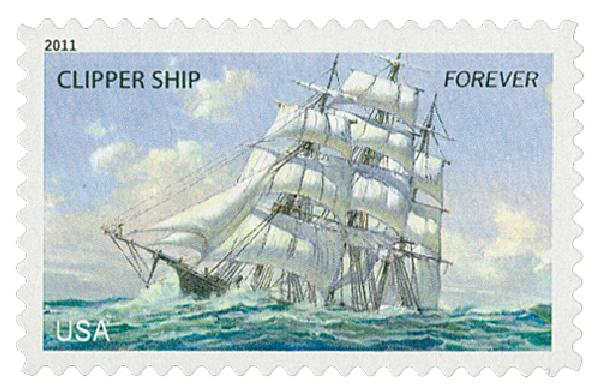 2011 First-Class Forever Stamp -  U.S. Merchant Marine: Clipper Ship