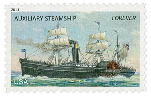 2011 First-Class Forever Stamp -  U.S. Merchant Marine: Auxiliary Steamship