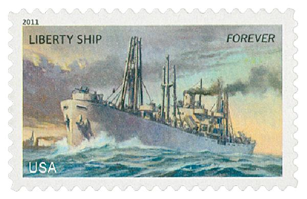 2011 First-Class Forever Stamp -  U.S. Merchant Marine: Liberty Ship