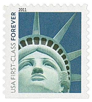 2011 First-Class Forever Stamp -  Lady Liberty (Ashton Potter)