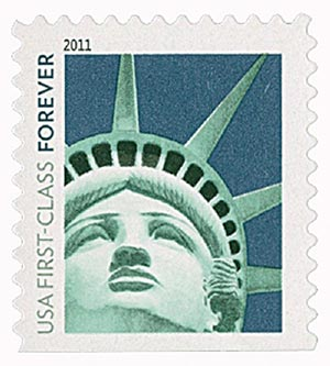 2011 First-Class Forever Stamp -  Lady Liberty (Sennett Security Products)