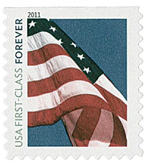 2011 First-Class Forever Stamp -  Flag Forever (Sennett Security Products)