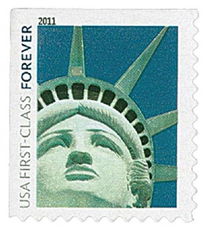 2011 First-Class Forever Stamp -  Lady Liberty (Avery Dennison)
