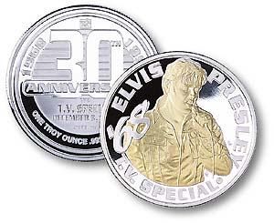 Elvis T.V. Special 30th Anniversary Silver Medal