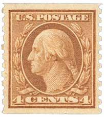 1915 4c Washington, brown, vertical perf 10