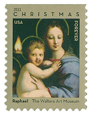 2011 First-Class Forever Stamp - Traditional Christmas: Madonna of the Candelabra