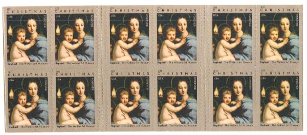 2011 First-Class Forever Stamp - Madonna of the Candelabra