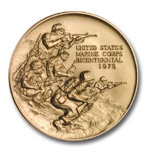 2002 U.S. Marine Corps Bicentennial Brnz Mdl