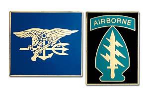 1996 Fighting Forces Set/2 Cloisonne Medals