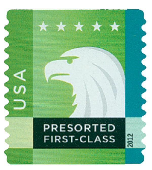 2012 25c Spectrum Eagle: Green behind USA