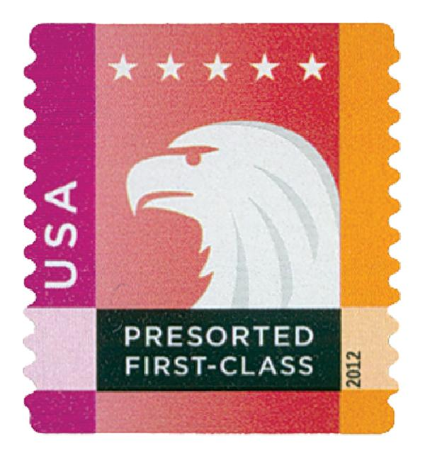2012 25c Spectrum Eagle: Magenta behind USA