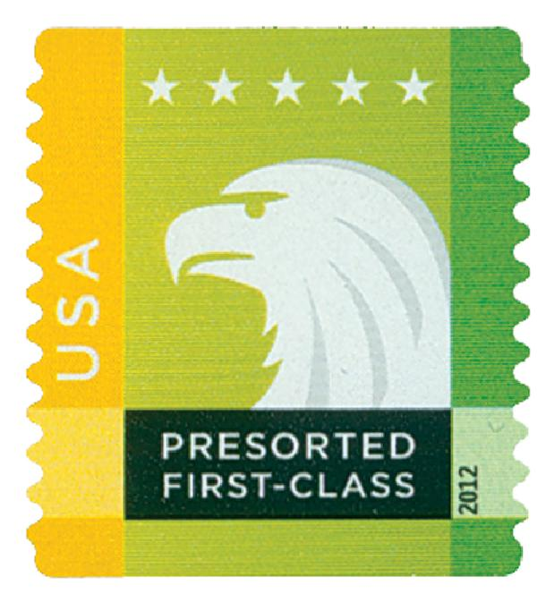 2012 25c Spectrum Eagle: Yellow behind USA