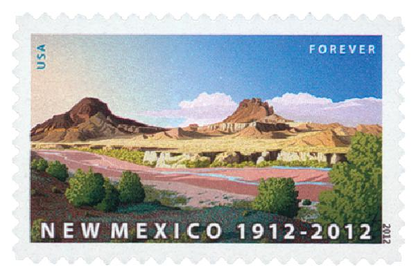2012 First-Class Forever Stamp - Statehood: New Mexico Centennial